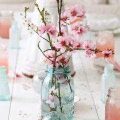 北欧インテリアと桜のフラワーアレンジ 春の飾り方