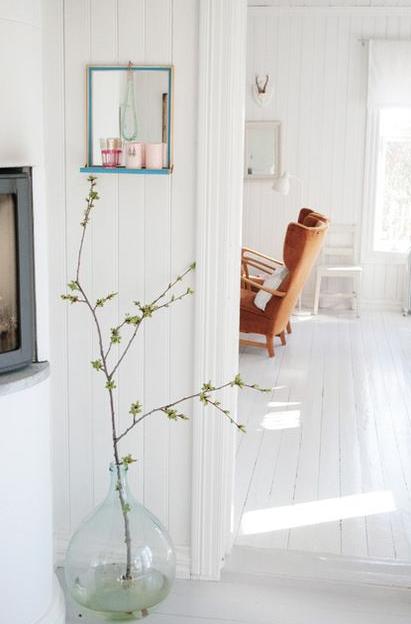 北欧リビング桜の枝飾り方