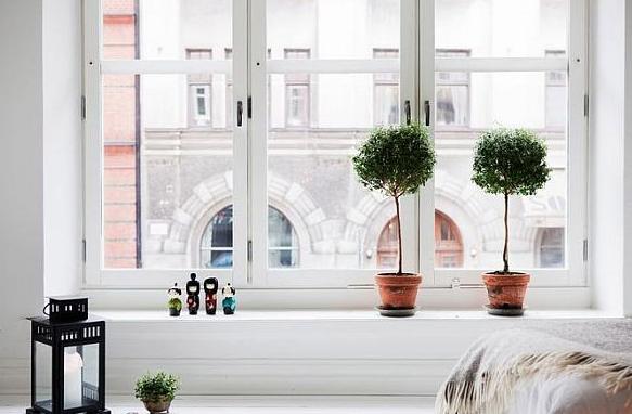かわいい北欧窓デコレーション