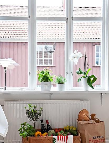 北欧インテリア窓デコレーション