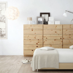 インテリア北欧ベッドルームのコーディネート例