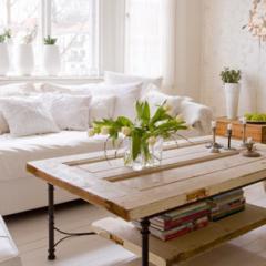 北欧のリビングテーブル飾り方 デコレーション例