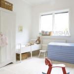 北欧かわいい子供部屋インテリア画像 家具のレイアウト例