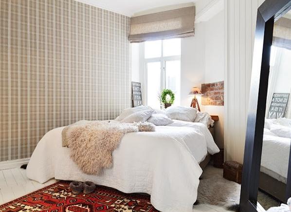 北欧マンション寝室