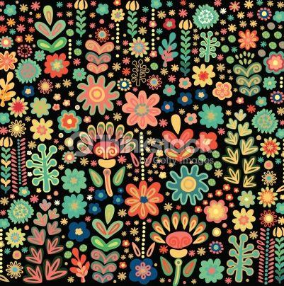 北欧おしゃれ花柄パターン