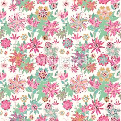 春の北欧柄花柄デザイン