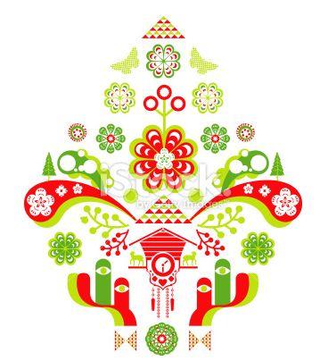 北欧クリスマス柄イラスト