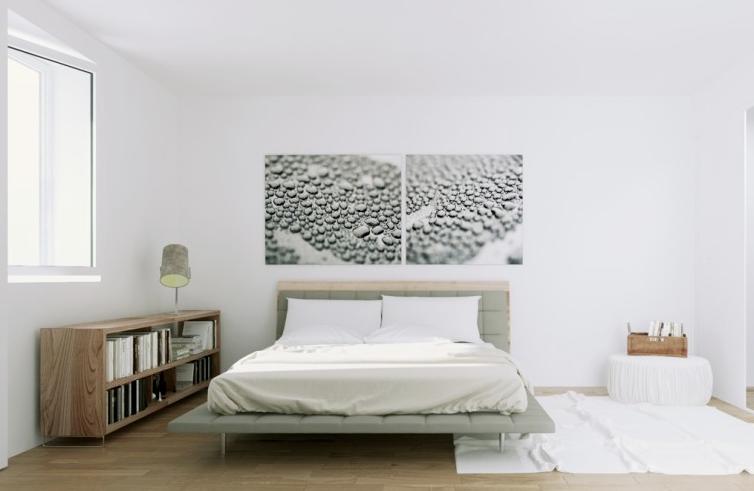 北欧スタイル寝室実例