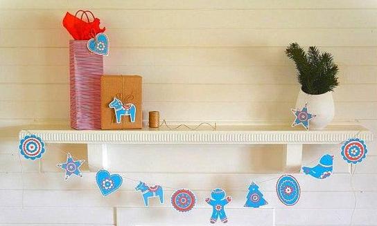 北欧クリスマスガーランド作り方