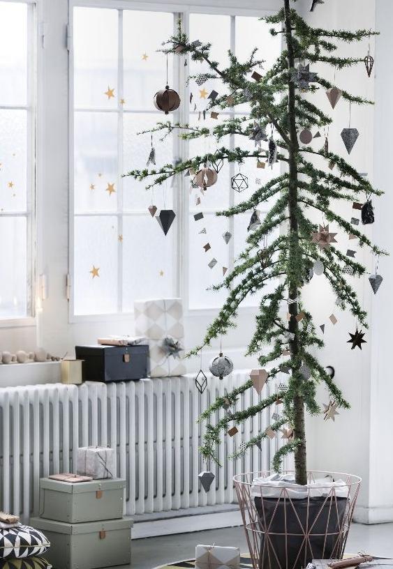おしゃれなクリスマスツリーデコ