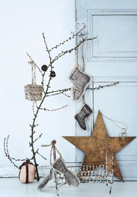 小枝クリスマスツリー