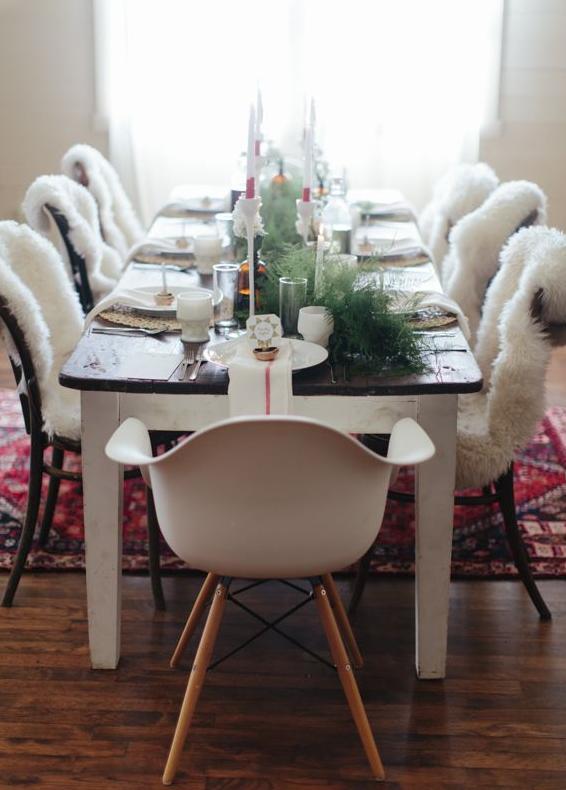 北欧クリスマスのテーブルデコレーション