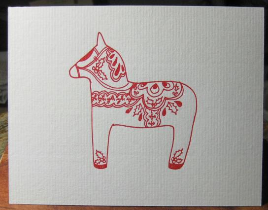 かわいい手作り北欧クリスマスカード
