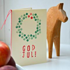 手作り北欧クリスマスカードの作り方