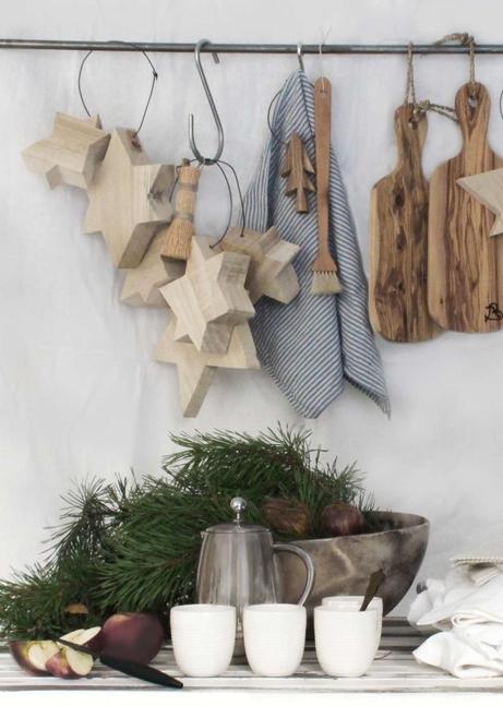 北欧キッチンクリスマス飾り付け