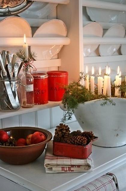 北欧キッチンクリスマスデコレーション
