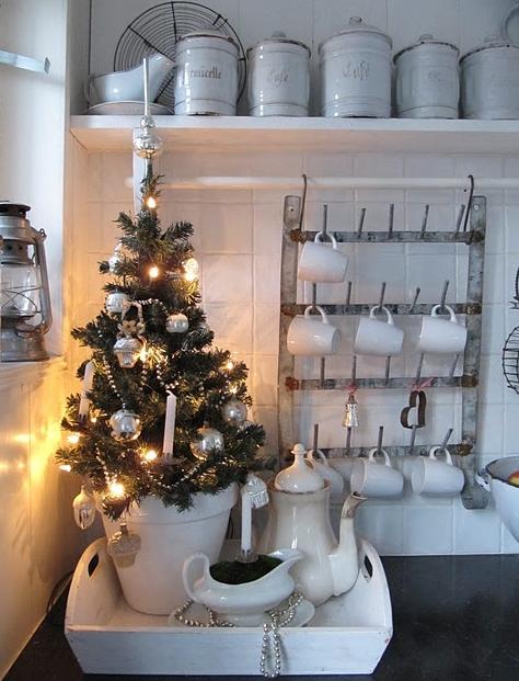 北欧クリスマスデコレーション台所