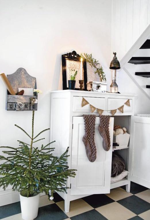 北欧インテリア玄関クリスマス