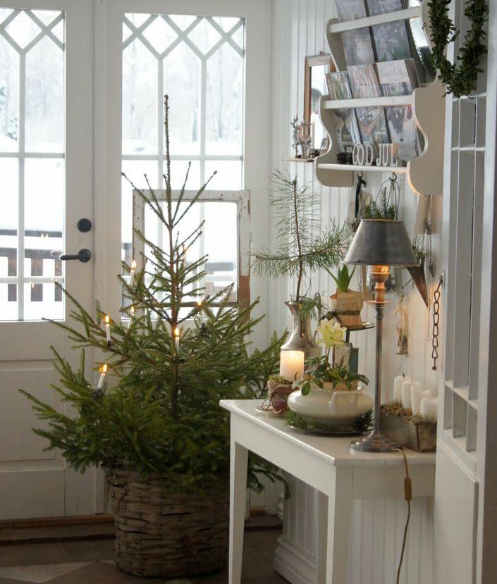 北欧クリスマス玄関ディスプレイ