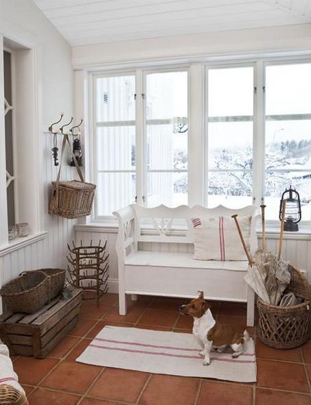 北欧シンプル玄関クリスマス飾り付け