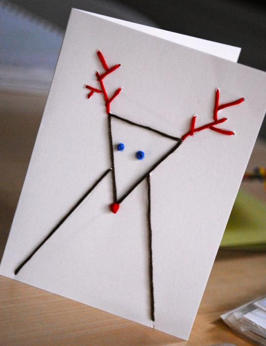 簡単手作り北欧クリスマスカード