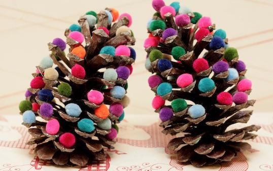 手作りミニクリスマスツリー