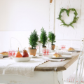 北欧クリスマステーブルディスプレイ