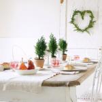 北欧クリスマステーブルコーディネート画像