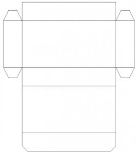 長方形ボックス箱テンプレート型紙