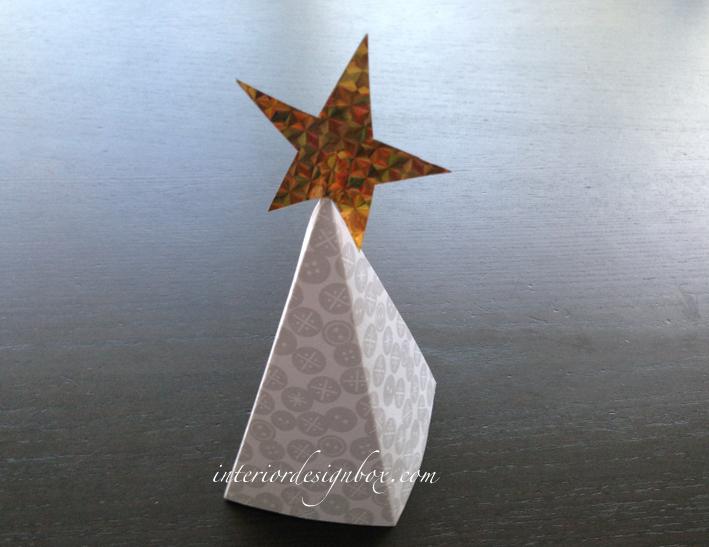 画用紙クリスマスツリー3D立体手作り