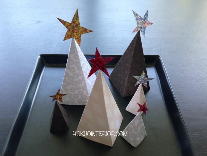 手作りクリスマスツリーおしゃれ紙