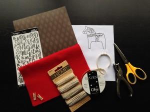簡単手作りフェルトクリスマスカード材料
