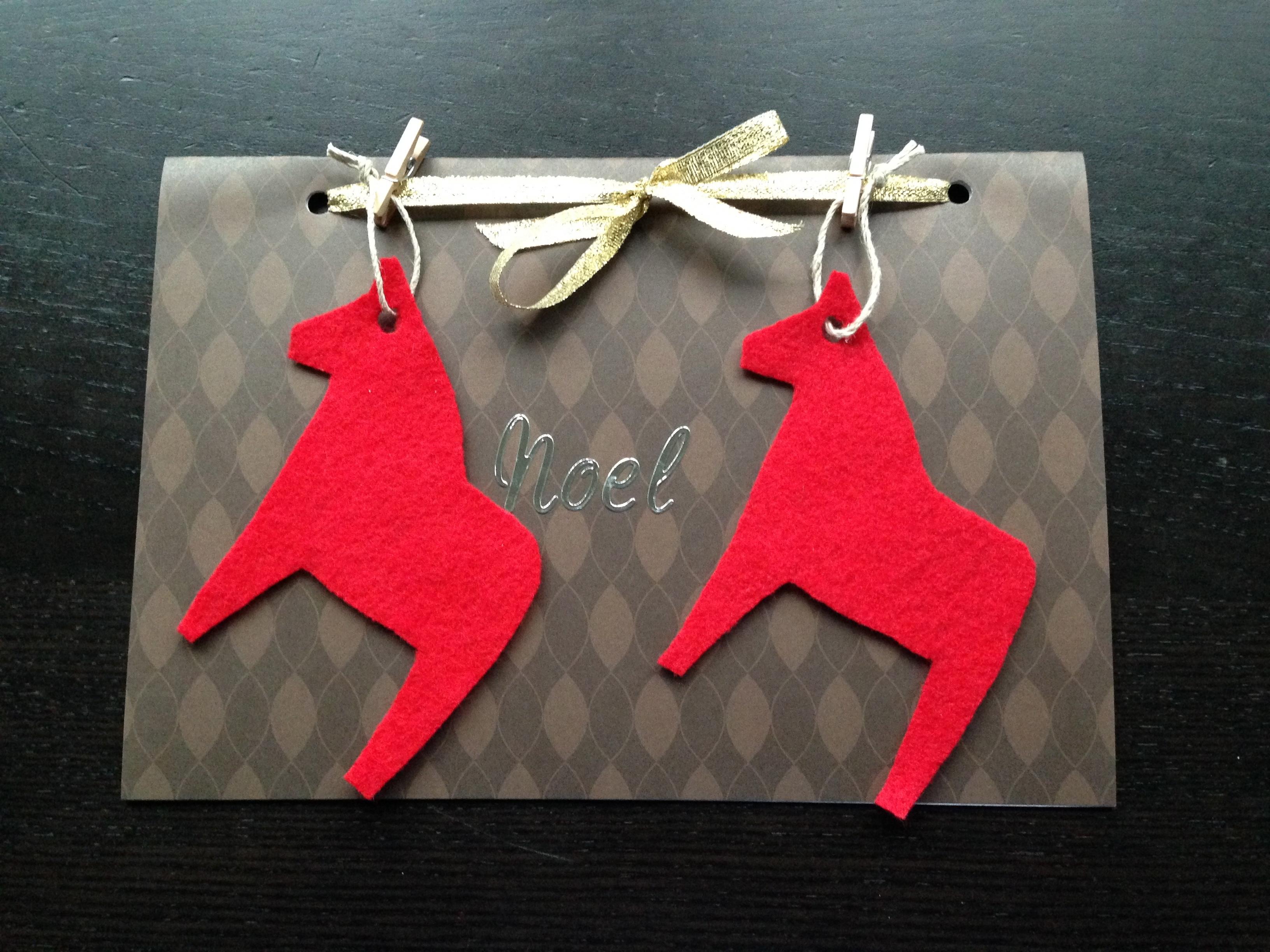 手作りクリスマスカードおしゃれ