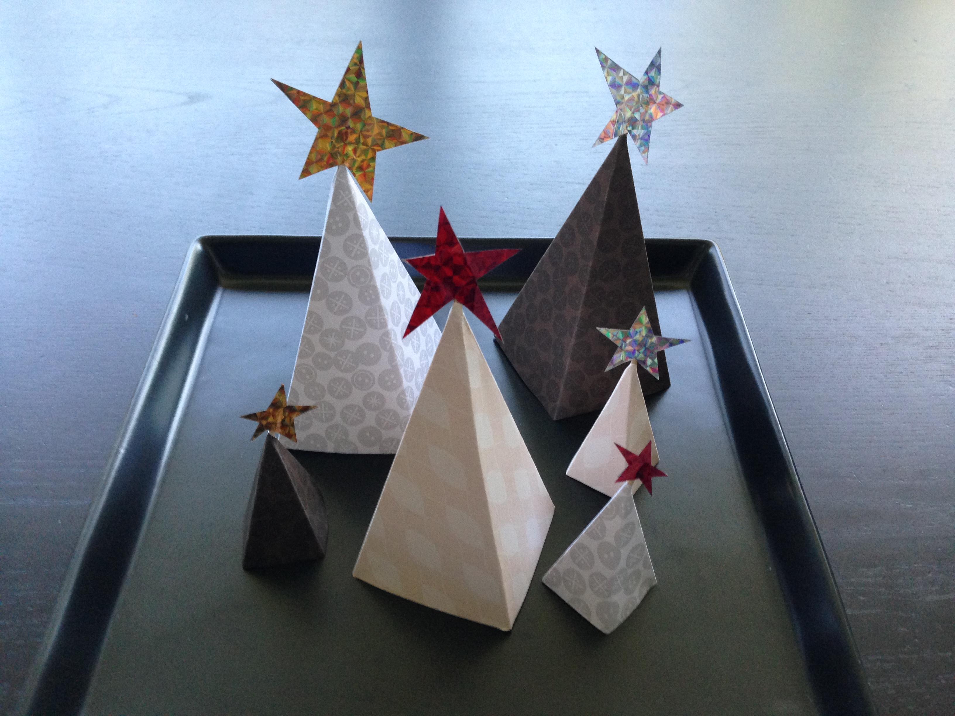 手作り立体クリスマスツリーおしゃれ紙