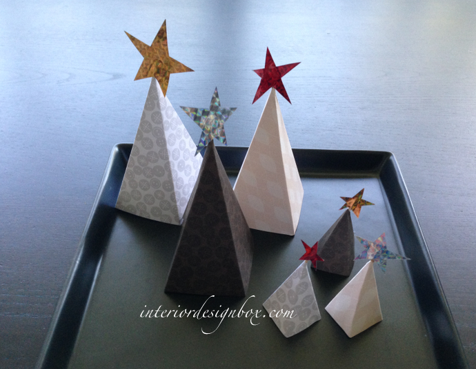 簡単手作り紙クリスマスツリーおしゃれ
