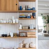 北欧キッチン雑貨収納 オープン食器棚のおしゃれな収納方法