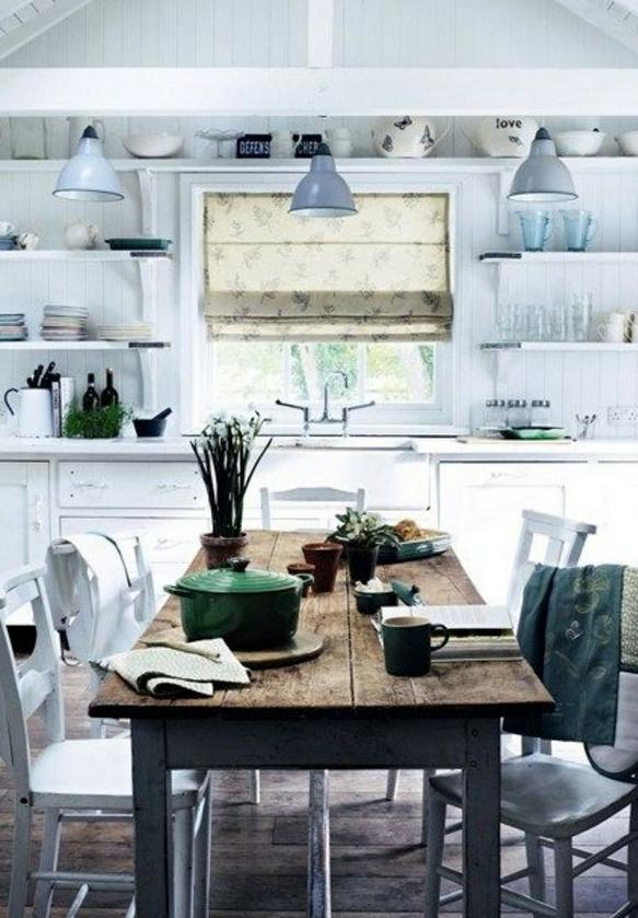 北欧キッチン棚収納例