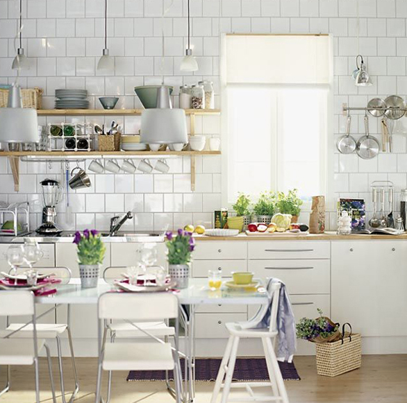 北欧ダイニングキッチン収納例