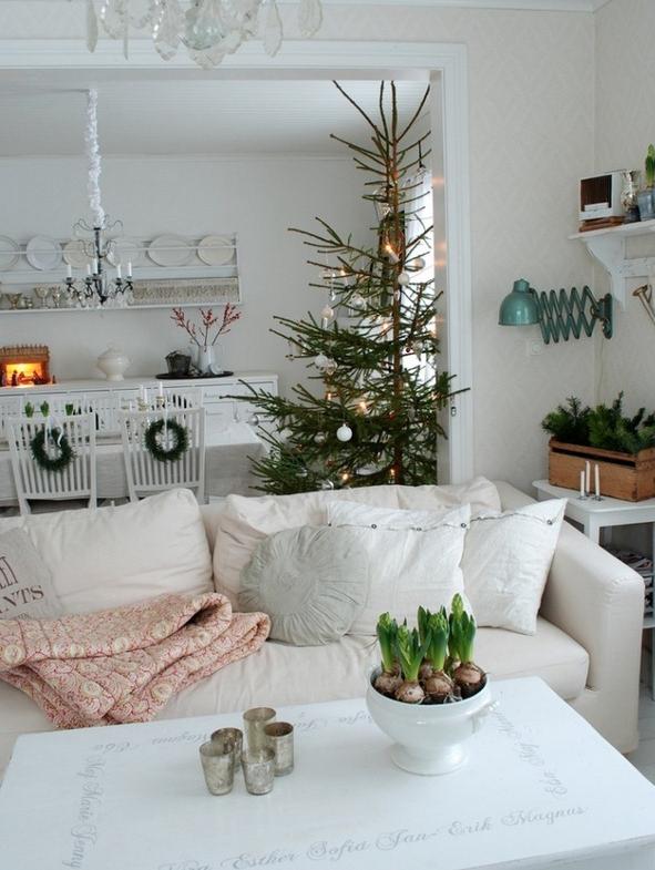 北欧リビングクリスマス飾り