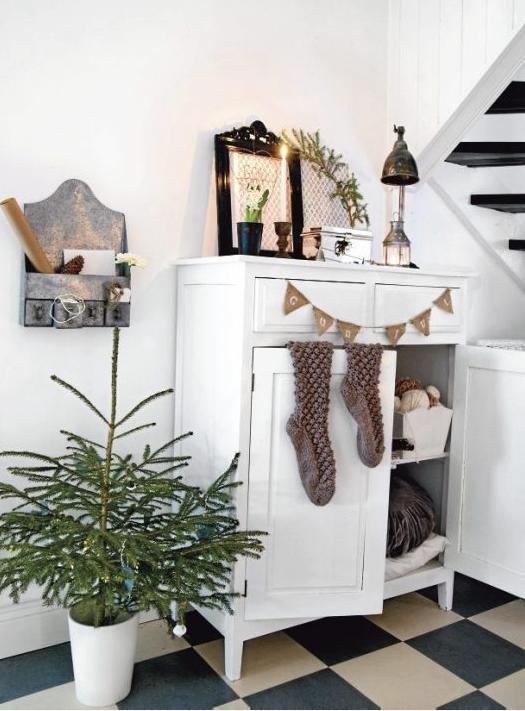 北欧クリスマス飾り玄関
