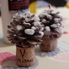 松ぼっくりツリーの土台と材料 クリスマスツリーの作り方